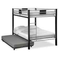 Matte Black Bedroom Furniture New American Signature Bunk Beds Solid Metal Material Twin Bed