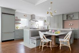 fresh contemporary kitchen with banquette seating