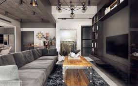 industrial style living room furniture. Nothing Says Effortless Cool And Easy Maintenance Than An Industrial-style Living Room. Exposed Brick Walls Greet Black White Typographic Prints, Industrial Style Room Furniture