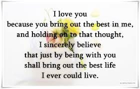 You Bring Out The Best In Me Quotes
