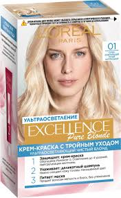 Excellence Краска для <b>волос</b> , 01, <b>Суперосветляющий</b> русый ...