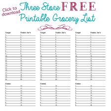 grocery list template printable organized grocery list 3 free printable templates ask