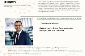 interview case change management intraskope internal communication perspectives