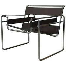 Marcel Breuer Black Leather and Tubular Chrome Steel Chairs, Set of Eight 3