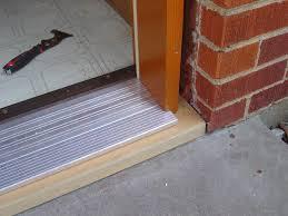unfinshed threshold prehung door