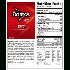 nacho cheese doritos nutrition facts swiss cheeses inside nutrition label for doritos