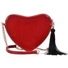 black red patent leather black fringe heart style las chain purse shoulder bag tote cross mini bag flap handbag bolsa whole purses black