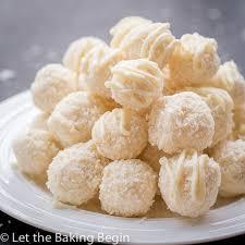white chocolate coconut candy raffaello copycat let the baking begin