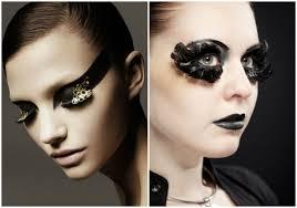 fashion makeup 2019 long eyelashes with feathers