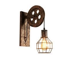Industrielle Wandlampe Rad Wandleuchten Heben Wand Lamp Restaurant