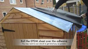 Shed Roof Designs How To Waterproof Your Shed Roof With Epdm Youtube