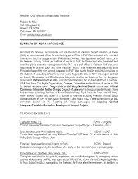 Translator Resume Sample Medical Interpreter Resume Resume For Study 84