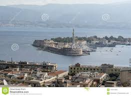 View Across The Straits Of Messina From The Sacrario Militare Cristo Re  Messina Italy Stock Image - Image of italy, fountain: 104315093