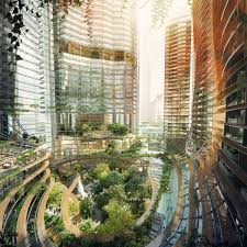 Icn Design International Pte Ltd Architects Propose Jungle Infused Towers Featuring