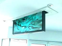 Retractable tv mount Sloped Wall Ceiling Hanging Tv Mount Mount From Ceiling Retractable Ceiling Mounts Universal Folding Manual Ceiling Flip Down Zebracolombiaco Ceiling Hanging Tv Mount Mount From Ceiling Retractable Ceiling