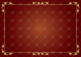 Brown Background Thin Golden Frame On Brown Background Vector Illustration Of