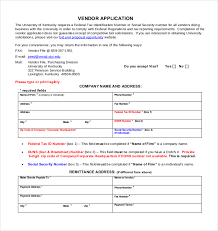Registration Form Templates For Word Vendor Application Form Template Charlotte Clergy Coalition
