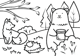 Kids Animal Coloring Pages Domlinkovinfo