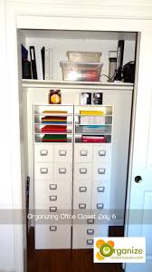 Organized Office Closet Organized Home Office Closet Modish And