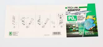 Phosphate Colour Chart Jbl Proaqua Test Po4 Phosphate Sensitiv