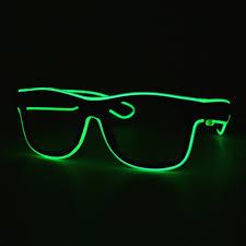 Neon Light Glasses Led Neon Glasses Light Green Transparent Glasses