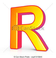 How To Right A Letter Cool 48d Golden Letter R 48d Rendering Golden Letter R Isolated On White