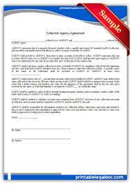 Fillable agency agreement sample doc. Free Printable Collection Agency Agreement Form Generic