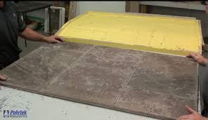 casting concrete tiled panels