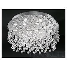 franklite fl2019 18 constellation flush crystal ceiling light