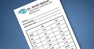 Contact Lens Power Conversion Chart Understanding Your Contact Lens Prescription