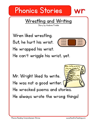 Phonics is a method of teaching kids to learn to read by helping them to match the sounds of letters, and groups of letters, to distinguish. Reading Comprehension Worksheet Wrestling And Writing