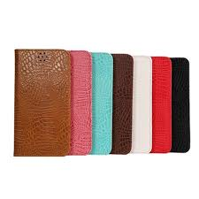 crocodile grain magnet flip stand leather case for samsung galaxy note 5 banggood com