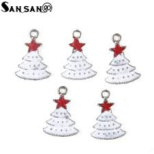 <b>10pcs</b> Christmas Series Enamel Art <b>Oil Drop</b> Red Star Christmas ...