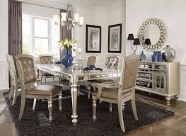 black dining room furniture sets. Arsenia Mirrored Dining Room Furniture Set Black Sets D