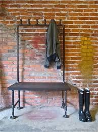 Industrial Coat Rack Bench Mudroom Unique Industrial Metal Entryway Bench In Black Finish 20