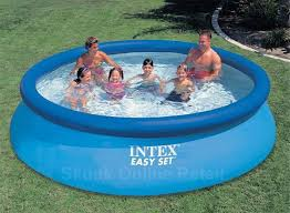 above ground inflatable pool. Contemporary Above Buy 12 Feet Intex Easy Set Above Ground Family Inflatable Pool Online In