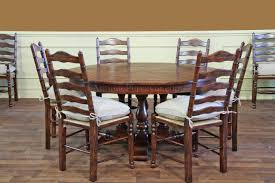 rustic ladder back chairs with rush seats upholstered cushions pertaining to dining design 14
