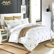 baseball bed sets whole luxury white hotel duvet cover set quality king queen size bed linen