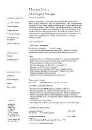 Resume Samples For Job Sap Ect Manager Resume Sample Job Description