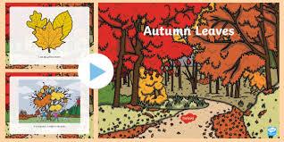 Autumn Leaves Powerpoint Emergent Reader Autumn Seasons Leaves
