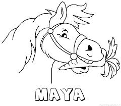 Maya Paard Van Sinterklaas Naam Kleurplaat