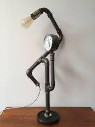 Steampunk Lamp Van Stalen Buis Steampunk Lampen Lampen