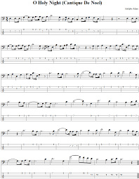 how to read bass sheet music o holy night bass guitar tab and sheet music