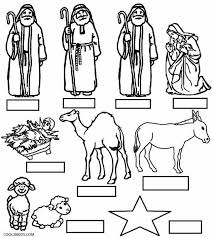 Nativity Characters Coloring Pages At Getdrawingscom Free For