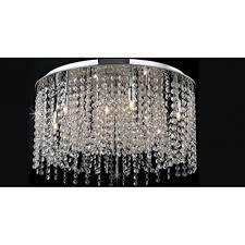 navarre large crystal semi flush ceiling light in chrome finish cfh411203 09 l