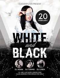 Free Party Flyer Templates Black And White Flyers Faveoly