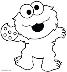 Sesame Street Coloring Pages Cookie Monster And Os On Throughout