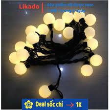 LIKADO] Đèn Led trang trí [FREESHIP TỪ 50K] đèn dây đen bi Trắng vàng tại Hà  Nội