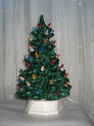 DIY U2013 Vintage Ceramic Christmas TreeCeramic Tabletop Christmas Tree With Lights