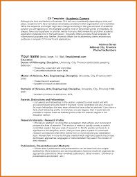 Comprehensive Resume Template academic cv template letter format business 97